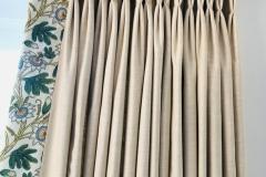 bespoke natural fabric curtains