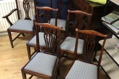 bespoke dining chair upholstery blue