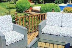 bespoke outdoor chair cushion cover