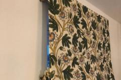 handmade floral fabric roman blind