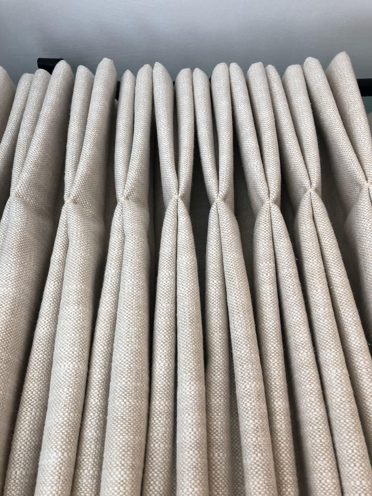 handmade fitted cream curtains