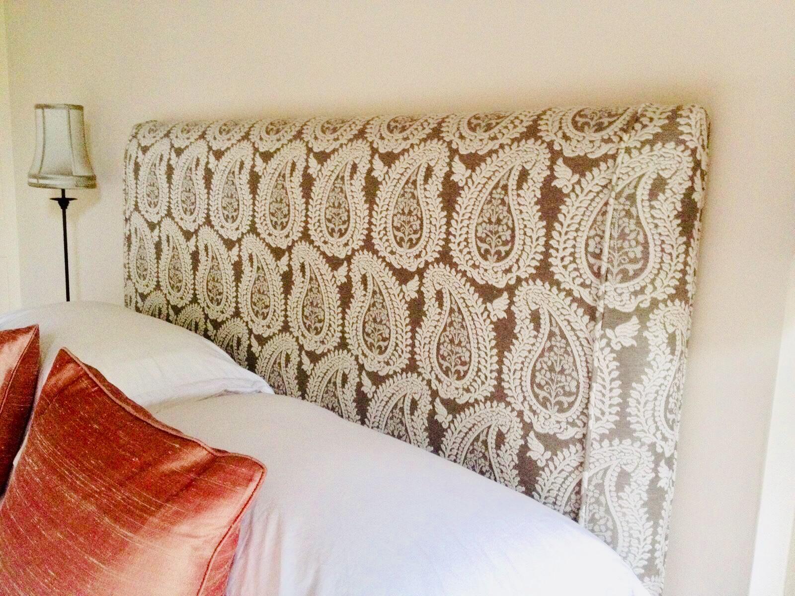 handmade kingsize upholstered headboard