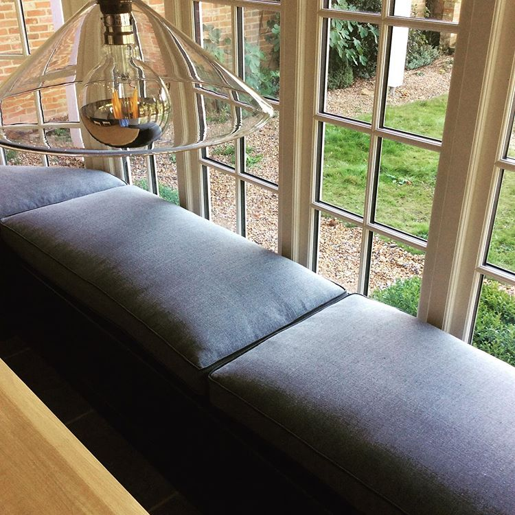handmade window bench cushion