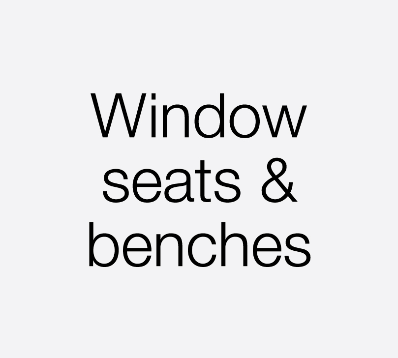 handmade window seats, benches