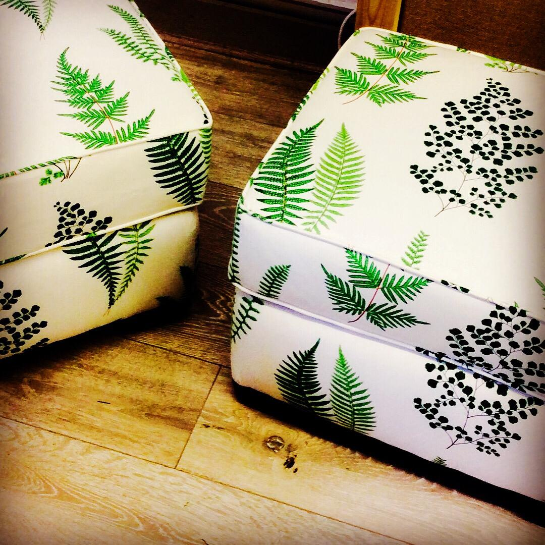 pattern fabric custom ottoman