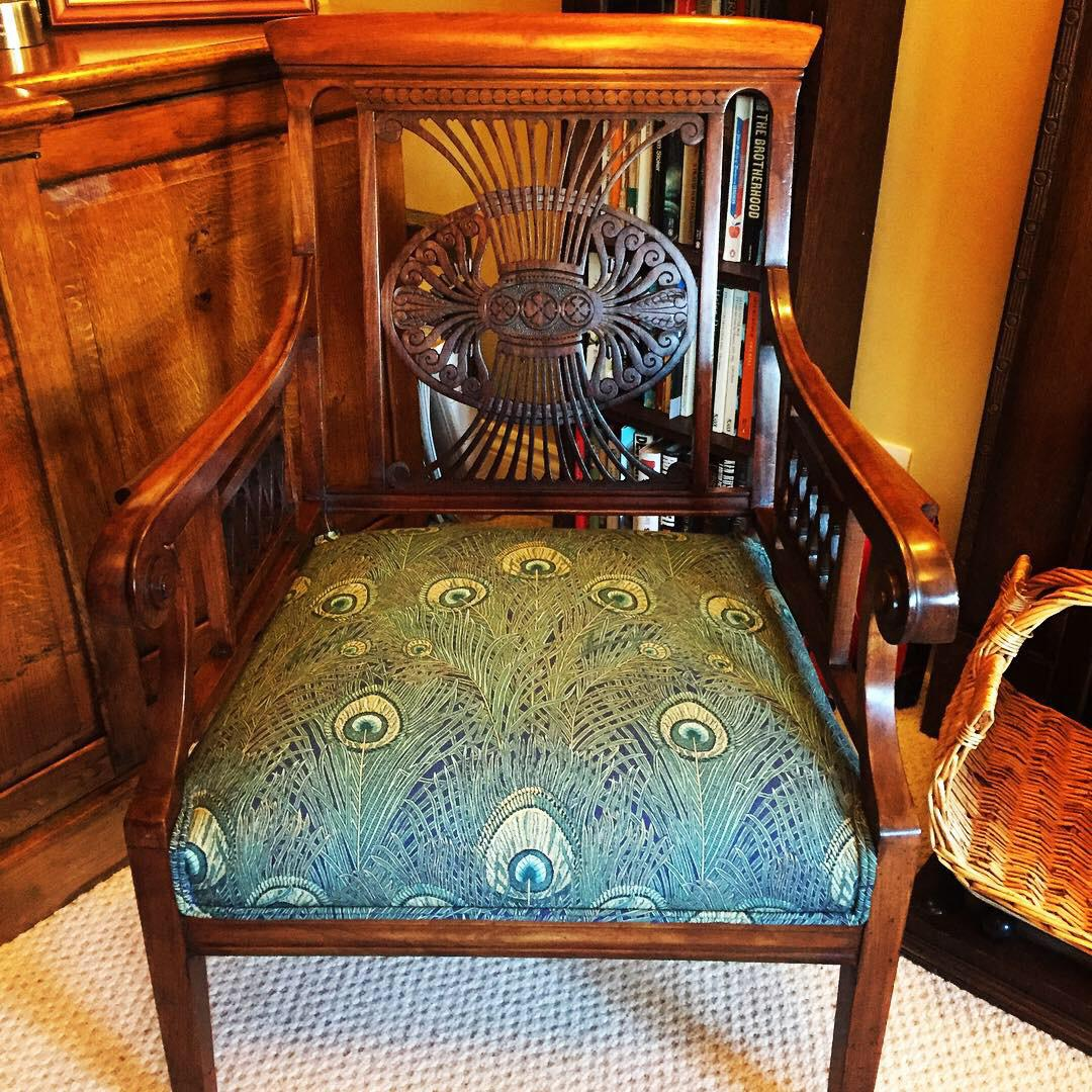 vintage antique chair upholstery